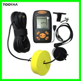 Wholesale Carp Alarms - 100M Portable Fish Finders Alarm Electronic Alarm Sonar Sensor Sounder Fishfinder Sonar LCD Fishing Lure Bait Echo Sounder Carp