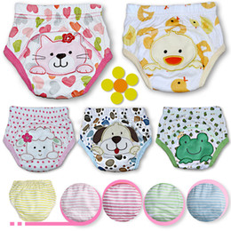 Wholesale Magic Baby Diapers - New 2017 Baby Cotton Waterproof Reusable Nappy Diaper Training Pants Cartoon Infant Boys Girls Underwear Washable Babies Wear Briefs A6333