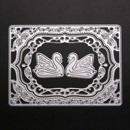 Wholesale Decorative Paper Sets - ASLT 1 Set Swan Design Cutting Dies Stencils for DIY Scrapbooking Decorative Craft Album Embossing Handmade Metal Paper Cards
