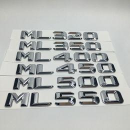 Etiquetas engomadas del coche cromo ML320 ML350 ML400 ML450 ML500 ML550 emblema trasero emblema letras para Mercedes Benz ML clase desde fabricantes