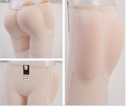 Wholesale Silicone Hip Buttocks - Wholesale- Silicone Inserts Panties Padded butt lifter Shaper Hip Up Underwear Bottom 4 Knickers Buttock Backside Bum Pads Butt Enhancer