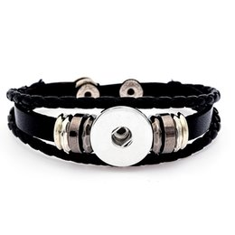 Wholesale Trendy Charm Bracelets - Classic Noosa Chunks Snap charm Bracelet,Trendy Snap Button Bracelets Snap Leather Bracelet Interchangeable Jewelry Ginger Snaps bracelets