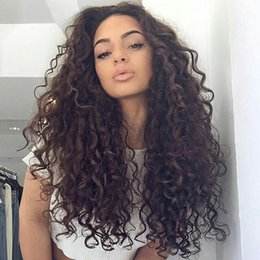 Wholesale Silk Top Human Wigs - Silk Top Lace Front Wigs Deep Wave Deep Curly Glueless Full Lace Human Hair Wigs Silk Base 4x4 Bleached Knot G-EASY