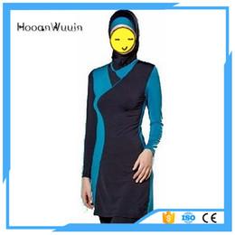 Wholesale Muslim Women Swim Suit - Wholesale plus size swim suit women stitching swimwear muslim swimsuit
