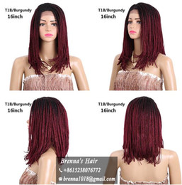 Wholesale Long Micro Braiding Hair - African American Long Black Lace Front Wigs for Women front lace bob wigs HighTemperature Fiber Curly Braiding Hair Micro Braided Wig