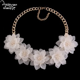 Wholesale collar necklace cheap - Wholesale- Dvacaman Brand 2017 Za Flower Statement Necklace Women Cheap Boho Maxi Pendant Necklace Choker Collar Jewelry Christmas Gift C16