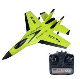 Wholesale Electric Radio Control Airplanes - Micro Mini RC Airplane RTF Su 35 Radio Controll Jet Fighter Mini Remote Controlled EPP Plane for Kids and Beginners