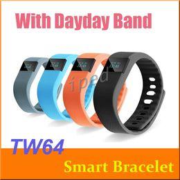 Wholesale Green Photographs - Waterproof Bluetooth TW64 Smart Bracelet Akin Flex Anti Lost Sleep Tracker Remote Photograph smart Wrist Watch for IOS Android OTH048 50pcs
