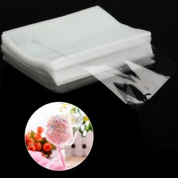 Wholesale cellophane clear - Wholesale- 100Pcs New Clear Sweets Cookies Lollipops Cake Cellophane Bags Packaging Candy Cookie Bag for Wedding Birthday Party
