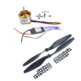 Wholesale Esc For Airplane - F01979-B 1PCS A2212 2200KV Outrunner Motor & JMT 30A ESC &1045 Propeller For F450 F500 F550 Drone