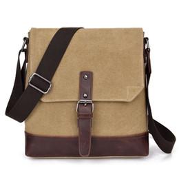 Wholesale Shoulder Handbag Casual Male Bags - Fashion Men's Canvas Messenger bag Male Briefcase Handbags Designer Casual Crossbody Bags Shoulder Travel Bags C004