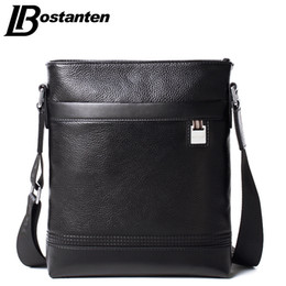 Wholesale Genuine Leather Business Bags Bostanten - Wholesale- Bostanten Business Genuine Leather Men's Messenger Bags Man Portfolio Office Bag Quality Small Travel Shoulder Handbag for Man