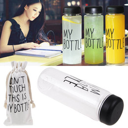 Wholesale Wholesale Pp Bags - My bottle water Bottle Korea Style New Design Today Special Plastic Sports Water Bottles Drinkware With Bag Retail Package 170712