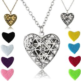 "Wholesale Heart Locket Photo - Aromatherapy Essential Oil Diffuser Necklace Hollow Cross Locket Pendant Love Heart Photo Locket Pendant Necklace With 23.62"" Chain B404Q"