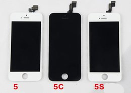 Wholesale Iphone5 Screen Replacement - For iphone5 Grade AAA No Dead Pixels LCD Touch Screen Digitzer Facing Camera Earpiece Home Button Replacement Parts For iPhone 5 5S 5C