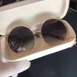 ce occhiali da sole Sconti Occhiali da sole rotondi con logo CE 138S da donna / Occhiali da sole con logo grigio chiaro trasparente oculos de sol feminino nuovi con scatola