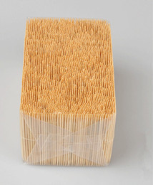 All'ingrosso- Stuzzicadenti di bambù alla rinfusa di grande valore Doppio o singolo dente tagliente bastoncini dentali naturali 1,6 * 65 mm 3500 pezzi / sacchetto da