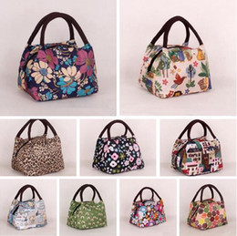 Wholesale Tote Bags For Woman Wholesale - Lunch Bags Canvas Women 2017 Handbags Portable Thermal Food Mummy Bags for kids Picnic Bag Lunch Package Cooler Lunch Box Tote