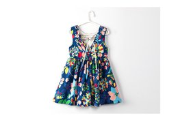 Wholesale Flower Stories - summer Girls flowers dress Sleeveless children tutu dresses kids Casual Wear party dance clothing AAB512DS-3R [Elevne Story]