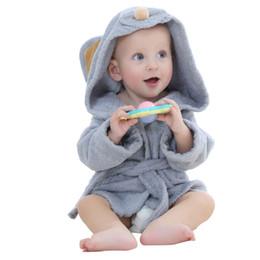 Wholesale Character Beach Towel Wholesale - Baby Bathrobe Fashion Designs Hooded Animal Modeling Cartoon Baby Towel Character Kids Bath Robe Infant Beach Towels YE0001