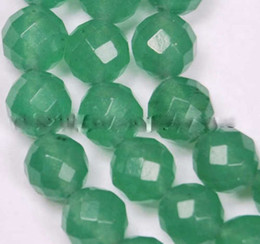 Wholesale 6mm Faceted Gemstones - Wholesale cheap 6mm 8mm 10mm 12mm Natural Faceted Green Emerald Gemstones Round Loose Beads 15''x5pcs