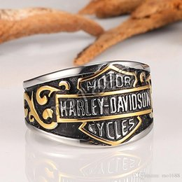 Wholesale Retro American - Wholesale stainless steel men's rings, retro Harley motorcycles, motorcycles, personalized Davidson rings