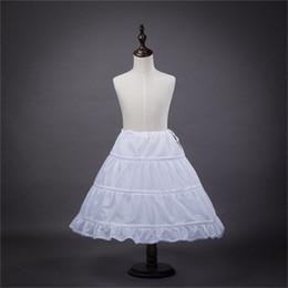 Wholesale Crochet Dresses For Children - 2017 New Children Petticoats for Formal Gown Flower Girl Dress White 3 Hoop Crinoline Princess Little Girls Kid Child Underskirt