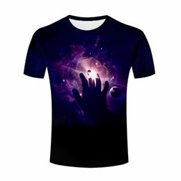 Wholesale Purple Abstract - 2017 Men Summer Abstract Colorful smoke from cigar Graphic Sugar Skull Animal Lion Printed T Shirt Wholesale Short Sleeve Tee Shirt Top M484