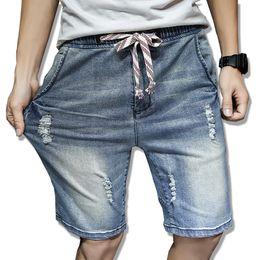 Wholesale Men Jeans Shorts Wholesale - Wholesale- 2017 New fashion mens short jeans cotton summer style shorts thin breathable denim shorts men jeans light blue