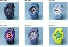 Wholesale Digital Automatic Watch - All Function Work Men Denim Watches G110 LED chronograph wristwatch Auto light G 100 Relojes Hombre Horloge Orologio Montre automatic Watch