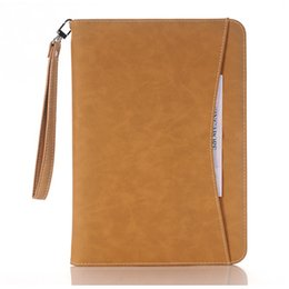 Wholesale Ipad Fall - Leather wrapping ultra-thin Hand fall dormancy smart stand case cover for ipad mini Air pro9.7