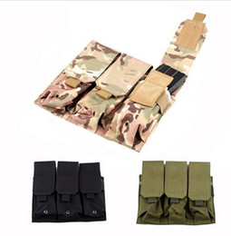 Wholesale Ar15 Magazines - Hunting Airsoft Molle Tactical Triple holster case for AR15 M4 5.56mm Mag Magazine Pouch Pistol Handgun Shooting Vest Tool Dump Drop Bag