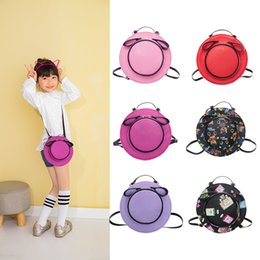 Wholesale Backpack Style Purse Wholesale - Fashion Wholesale new Childrens Bags hat style Girls Messenger bag kids Leather Weekend Bag Toddler Shoulder Bag Cheap Purse A586