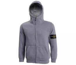 Wholesale Hooded Sweatshirts Zipper Men - hot sale new arrival mens island cardigan hoodies sweatshirt casual cotton sportswear mens stone jacket hoody plus S-3XL