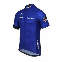 Wholesale Tour France Tops - Strava team Summer Cycling Jersey Breathable short sleeve shirt tour de france Bike Clothing Quick-Dry Bicycle Sportswear Ropa Ciclismo B206