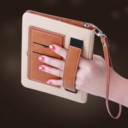 Wholesale Hand Bags Mix - Leather Case for Ipad Air Pro and Mini 1 2 3 4 5 6 Retro Briefcase Hand Belt Apple Holder Housing Auto Wake Up and Sleep Bag Flip Cover
