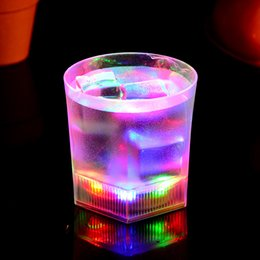 Wholesale Holiday Frosting - Luminous Frosted Cup Colorful LED Light Creative Water Sensing Mug Birthday Party Wine Glass Novelty Gift Bar Supplies 4 6jc F