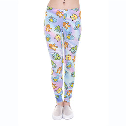 Wholesale Animal Print Yoga Pants - Girl Leggings Emoji Holographic 3D Graphic Print Women Skinny Stretchy Comfortable Yoga Wear Pants Lady Colorful Pattern Trousers (J43859)