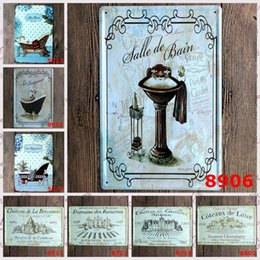 Wholesale United Paints - Bathtub Winery 20*30CM Iron Painting The Wall Decoration For Home Tin Poster Europe And The United States Metal Tin Sign Office 4rjE