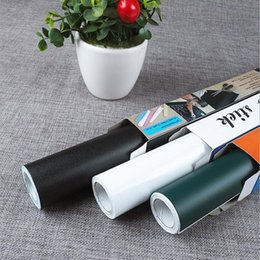 autocollant d'emballage de détail Promotion 45x200 CM PVC Conseil Stickers Muraux Stickers Vinyle Amovible DIY Blanc Noir Vert Conseil Autocollant pour Enfants Wiht Emballage De Détail