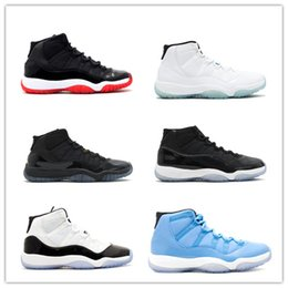 Wholesale 2017 retro XI Basketball Shoes men women Space Jam s Bred Legend Blue Discount Gym Red Sports Shoes Leather Running Shoe With Box