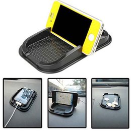 Wholesale Top Phone Pads - Wholesale-Top Sell 2015 New Black Car Dashboard Sticky Pad Mat Anti Non Slip Gadget Mobile Phone GPS Holder Interior Items AccessoriesS244