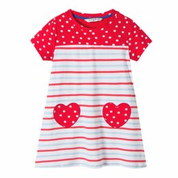 Wholesale Candy Dots Dress - Everweekend Cute Girls Candy Stripes Cotton Dress Summer Polka Dots Dresses with Love Patchwork Western Fashion Cute Dresses