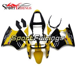 Wholesale Yellow Zx6r Fairing - Injection Fairings For Kawasaki ZX6R ZX-6R Year 00 01 02 2000 - 2002 Sportbike ABS Motorcycle Fairing Kit Bodywork Fairing Yellow Black New