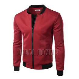 Wholesale Mens Sweaters Baseball - New 2015 Men Brand Baseball Jacket Sweater PU Leather Collar Coat Casual Mens Outdoor Jackets Patchwork Clothing M-XXXL