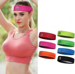 Wholesale Terry Cloth Sports Headbands - Hot selling Free shipping 2017 new sports sweat band terry cloth headbands hair accessories for women sports yoga hair bands