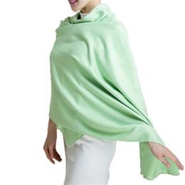 Wholesale Thick Silk Scarf - Pashmina Cashmere Silk Shawl Solid 200*60cm Echarpe Luxury Designer Scarf Winter 2015 Womens Fall Fashion Thick Scarf Brand Free