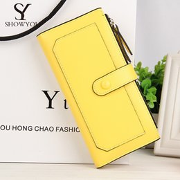 Wholesale Slimmest Cell Phone - thread patchwork Women long Wallet hasp zipper cross pattern Female coin Purse Solid slim lady Clutch bag Carteira Femininar