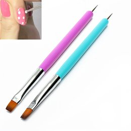 Wholesale Nail Polish Promotions - Wholesale- Hot 2015 New Arrival Promotion 2-Ways Nail Art Pen Painting Dotting Acrylic UV Gel Polish Brush Liners Tool 51OI smt 101