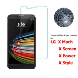 Wholesale Lg Mach - 9H 2.5D 0.2MM Tempered Glass Screen Protector for LG X Mach Power Style Screen Mobile Phone Anti Explostion Glass Protector Film